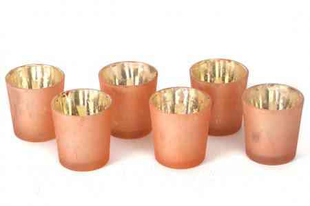 Mercury Glass Votive Candle Holders