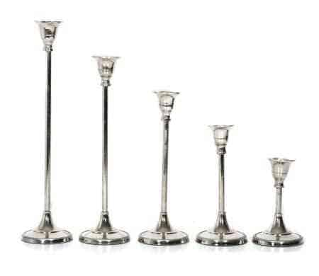 Metal Graduated Height Candle Holders (Set of 5)