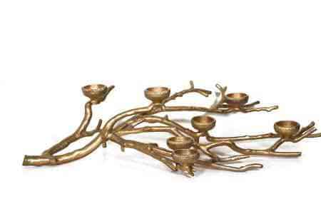 Metal Branch 7 Votive Candle Holders