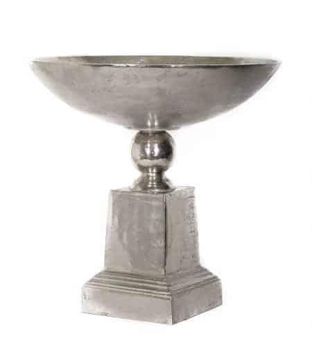 Metal Pedestal Bowl Vases