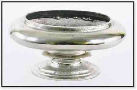 Aluminum Nickle Finish Bowl 12″H x 6″ W