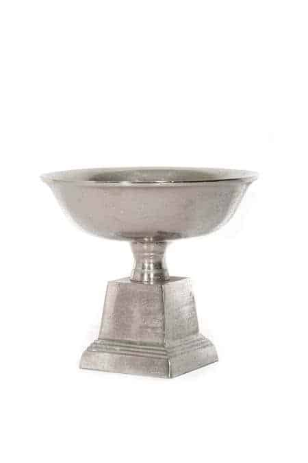 Metal Square Base Pedestal Bowls