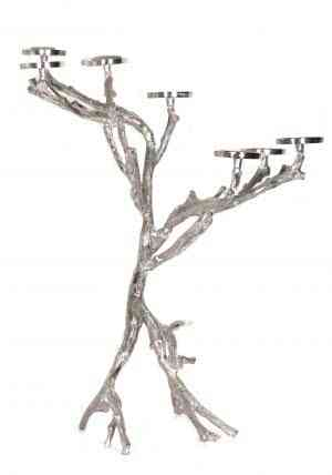 Metal Branch 7 plate Votive Candle Holders