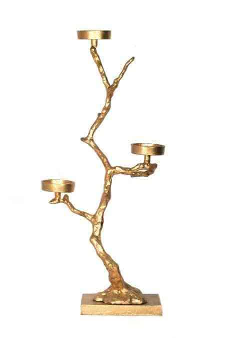 Metal Tree Small Floor Candle Holders