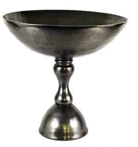 Metal Pedestal Bowls 9×8.5″ inches