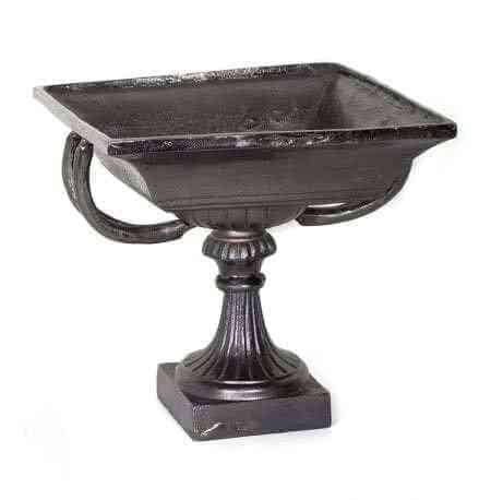 Metal Pedestal Square Bowls
