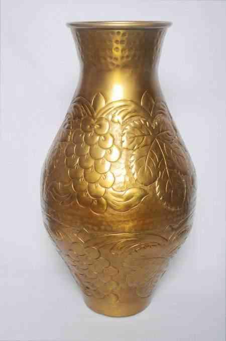 Metal Tall Floor Embossed Vase 19″ Tall