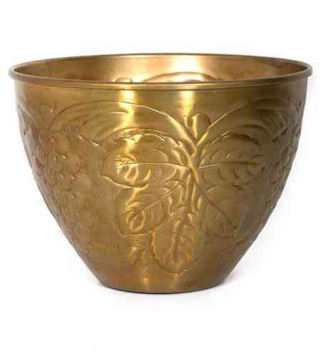 Metal Embossed tall Round Bowls