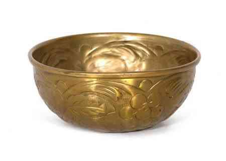 Metal Round Embossed Bowls