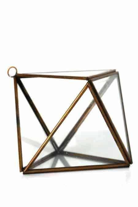 Gold Geometrical lantern 5.5″x9″