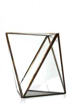 Gold Geometrical lantern 8.5″x8.5″