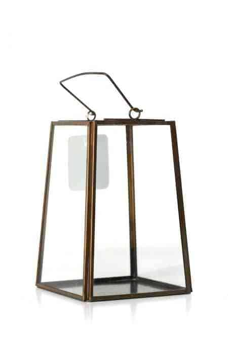 Gold Geometrical lantern 4.5″x4.5″