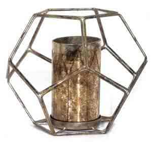 Metal Lanterns with Cylindrical Vase