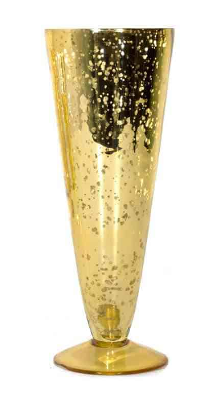Mercury Glass Pilsner Vase Snkent