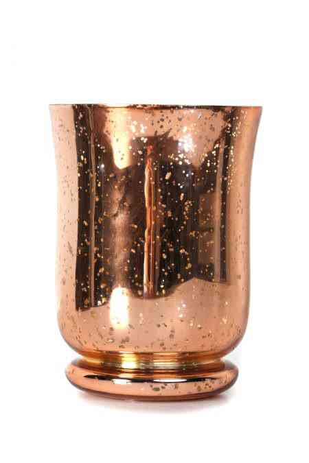 Mercury Glass Hurricane Vase