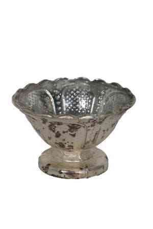 Royal Platinum glass bowl 4.5″x2.5″