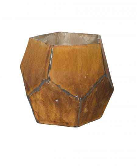 Moten Earth Glass Vase Hexagonal