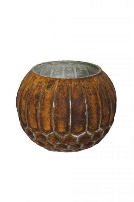 Molten Earth Glass Bubble Ball Vases