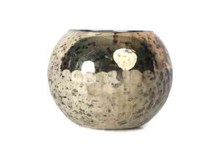 Decorative Mercury Glass Ball Vases