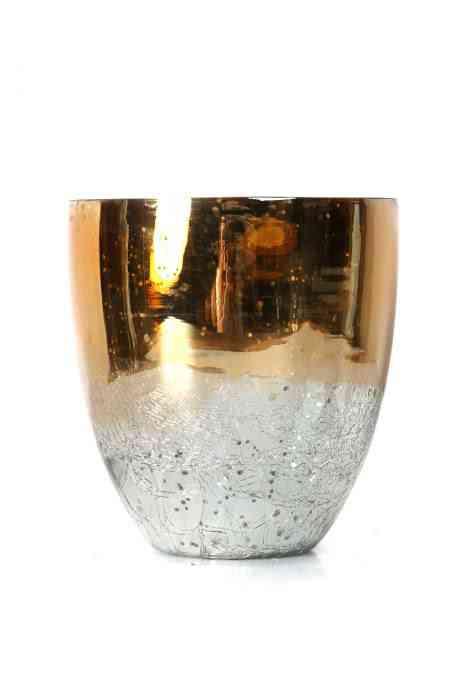 Decorative Mercury Glass Orchid Vases
