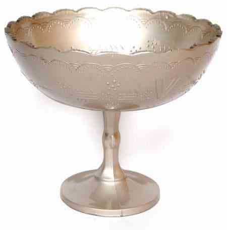 Mercury Glass Bowl and Compote