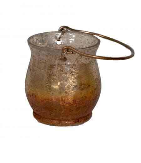 Sunset Mercury Glass Votive candle holder with Handle