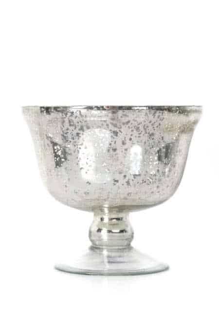 Mercury Glass Pedestal Bowls