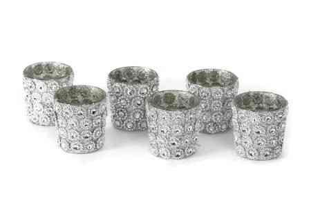 Mercury Glass Votive Candle Holders