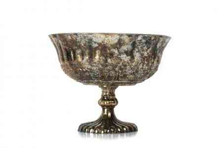 Mercury Glass Pedestal Bowl