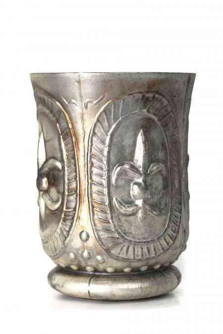 Mercury Glass Hurricane Vase