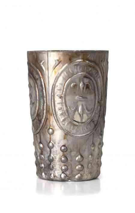 Mercury Glass Fleur De Lis Votive Cup