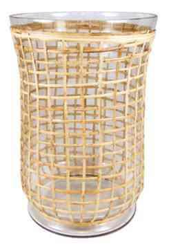 Cane & glass hurricane 13.5″x9.5″