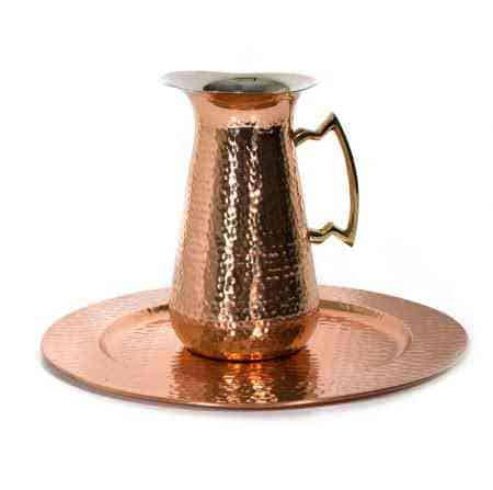 Pure Copper & Brass water pitcher 7″