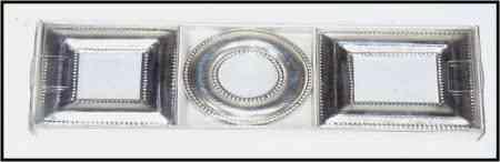 Silver picture frames 3 asst.