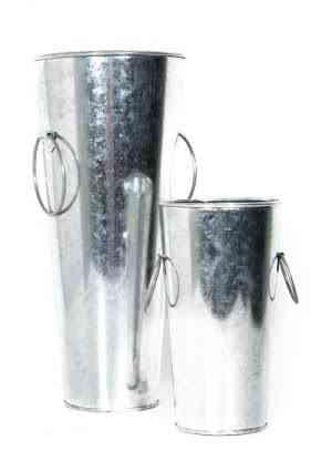 Iron French Bucket Set of 2