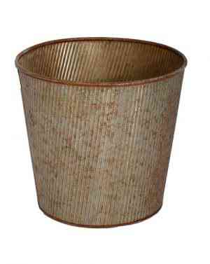 Galvanized Copper and Tin Round Planters