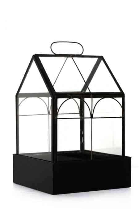 Iron & Glass atrium double arches 9″x6.5″X6.5″