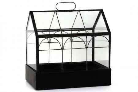 Iron & Glass atrium double arches 9″x6.5″X6.5″