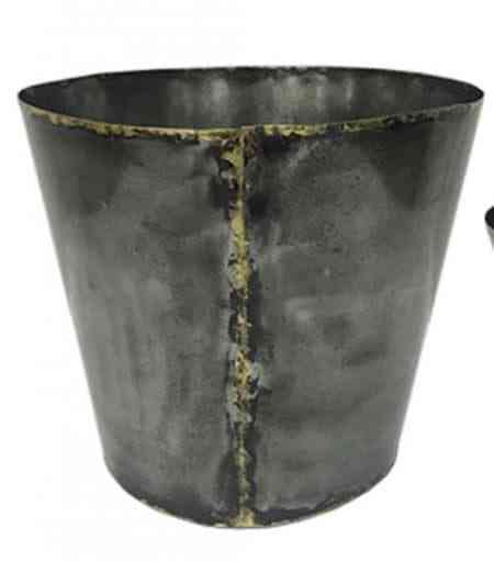 Grey Metal Pot Covers