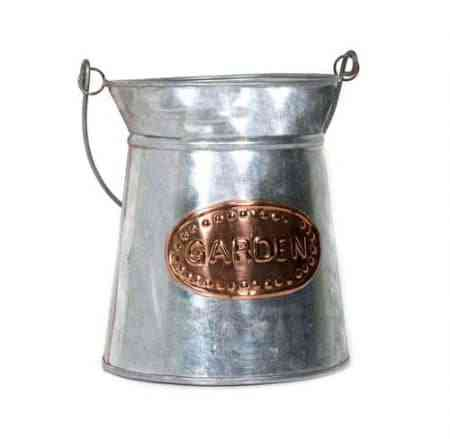 Galvanized Copper Milk Can