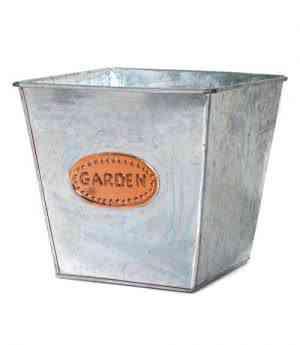 Galvanized Iron and Copper square Pots