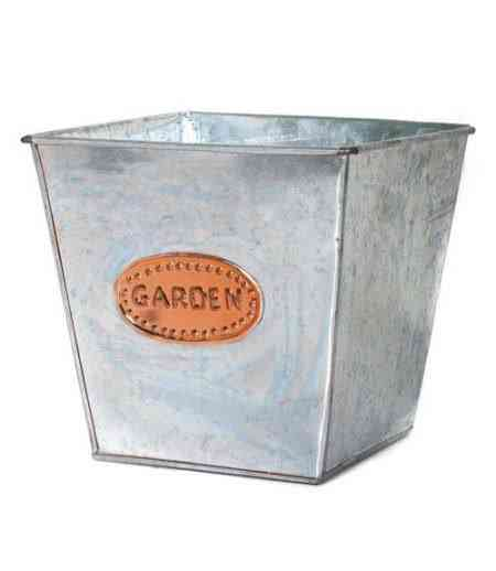 Galvanized Iron and Copper square Pots