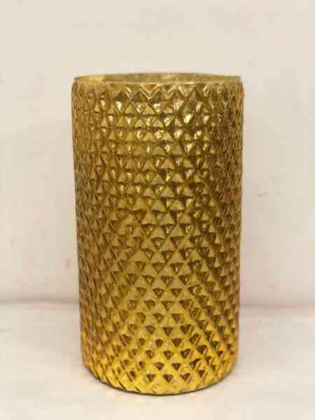Mercury Glass Cylinder Vases