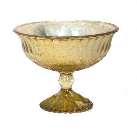 Mercury Glass Pedestal Bowl
