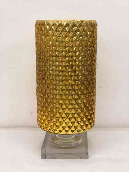 Mercury Glass Vases on Pedestal