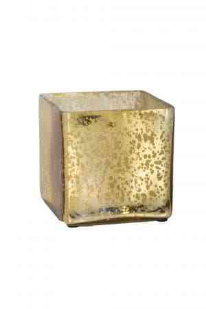 Glass Mercury Cube Vases
