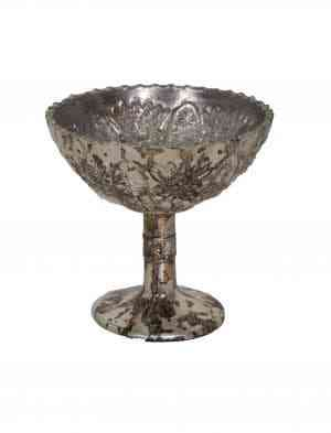 Decorative Glass Pedestal Bowls 4.5 inches