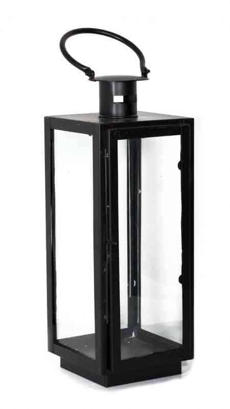 Square Metal and Glass Lanterns 20 Inches
