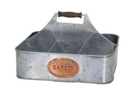 Galvanised and Copper Garden basket 14″x11.5″x9″H