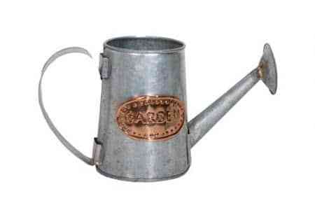 Galvanised and Copper watering can 12″x12″x6.5″H